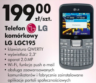 LG C195 Biedronka ulotka