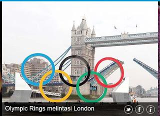 inovLy media : Olympic Rings melintasi London