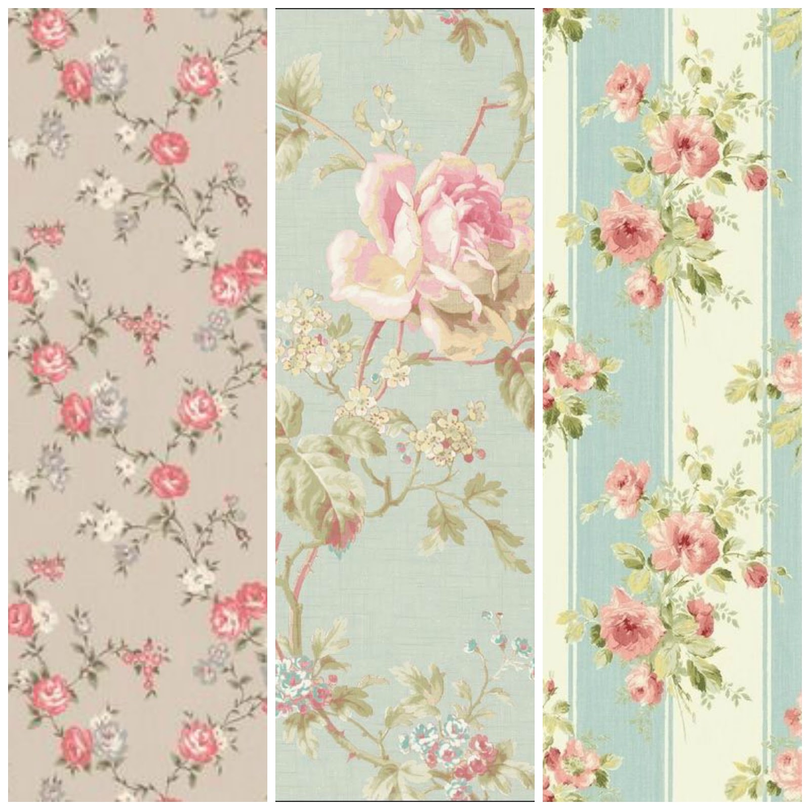 Shabby chic walls dinha for Floral wallpaper for walls