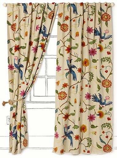 Flowered Curtains - Curtains Design Gallery