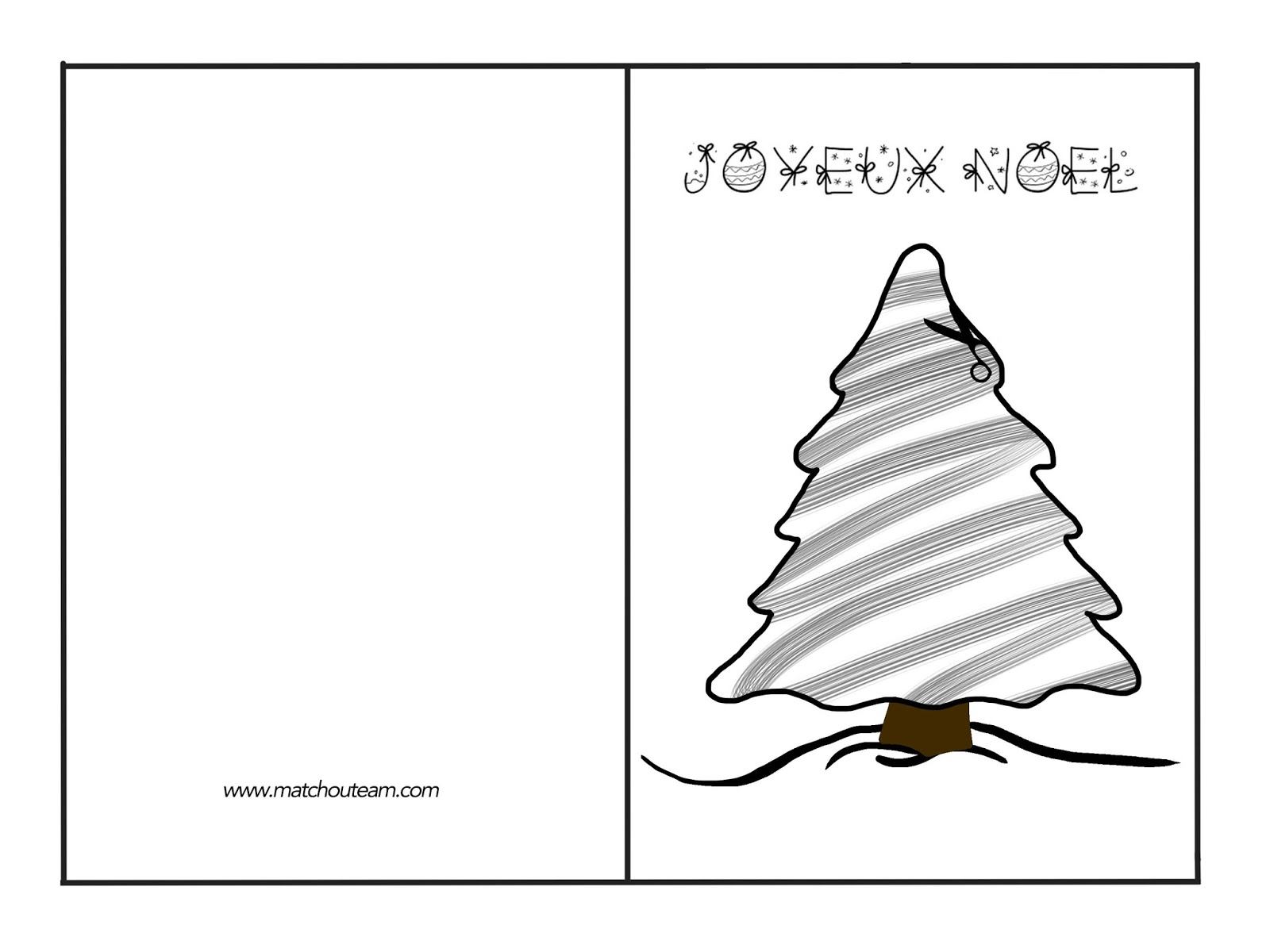 gabarit carte sapin Noël