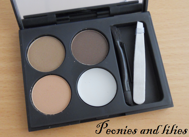 Fashionista stylebrows kit review and swatches, fashionista stylebrows kit, Peonies and lilies, Fashionista make up