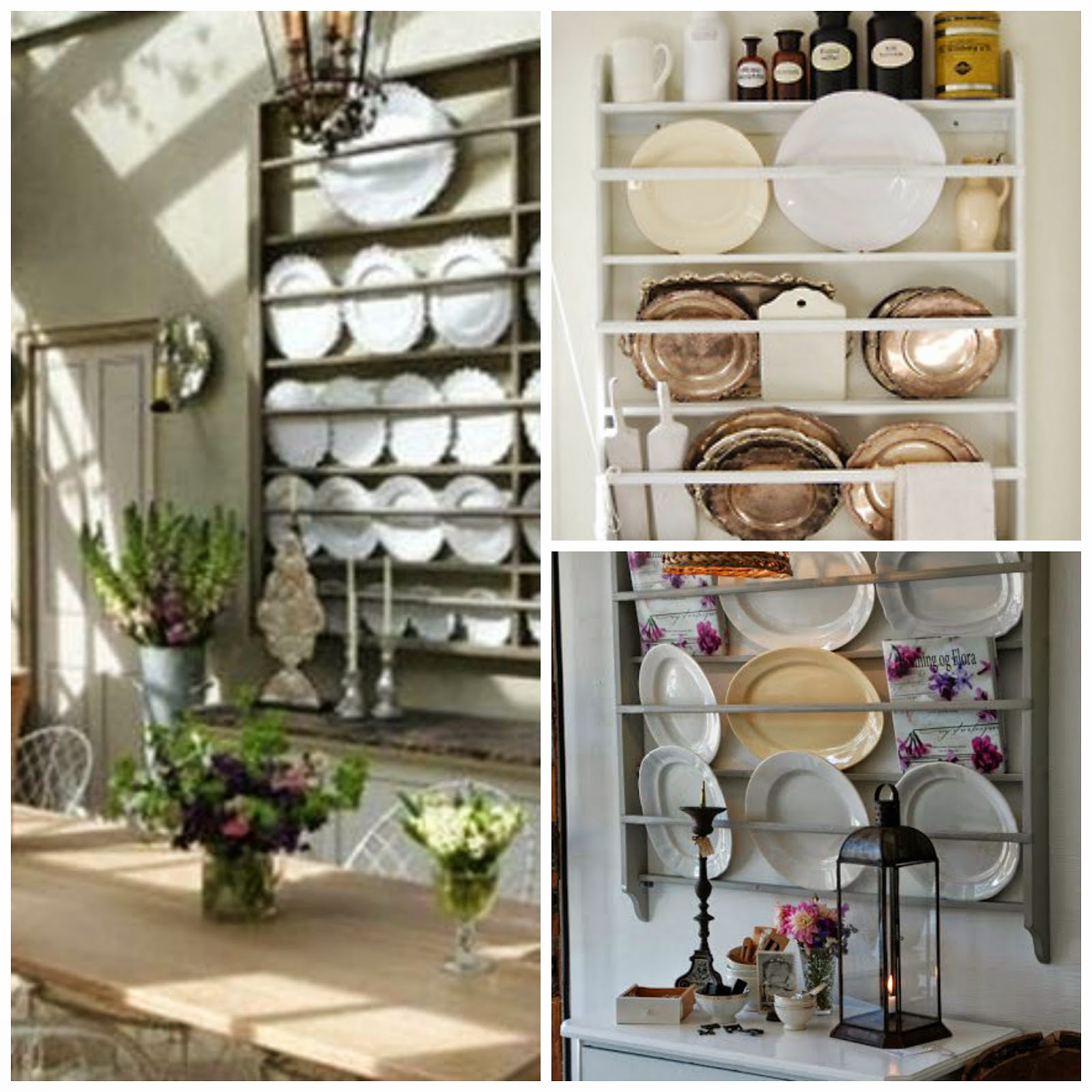 It seems like the majority of the Swedish homes have a plate rack and style it with beautiful plates and knick knacks and an occasional tea towel draped ... & A Little Paint A Little Spackle...: Plate Rack