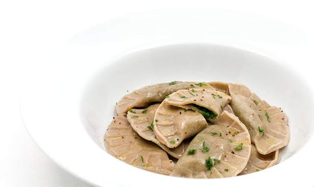 Vegan spinach ravioli recipe shot