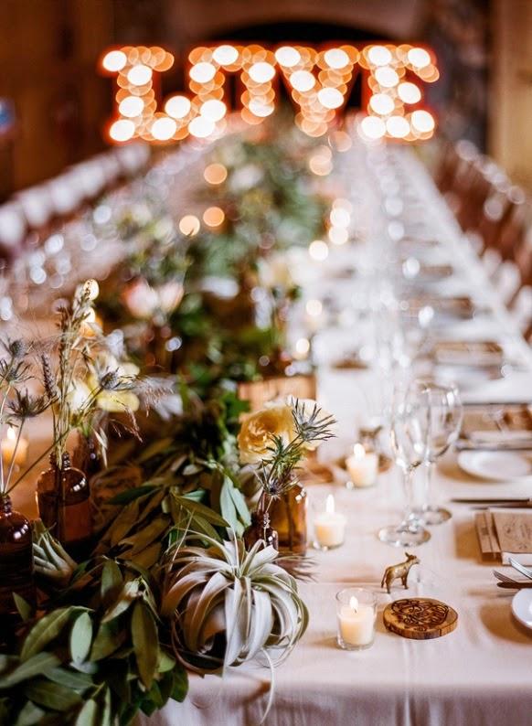 detalles florales mesa boda