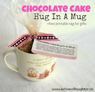Chocolate Cake Hug In A Mug +Free Printable Tag