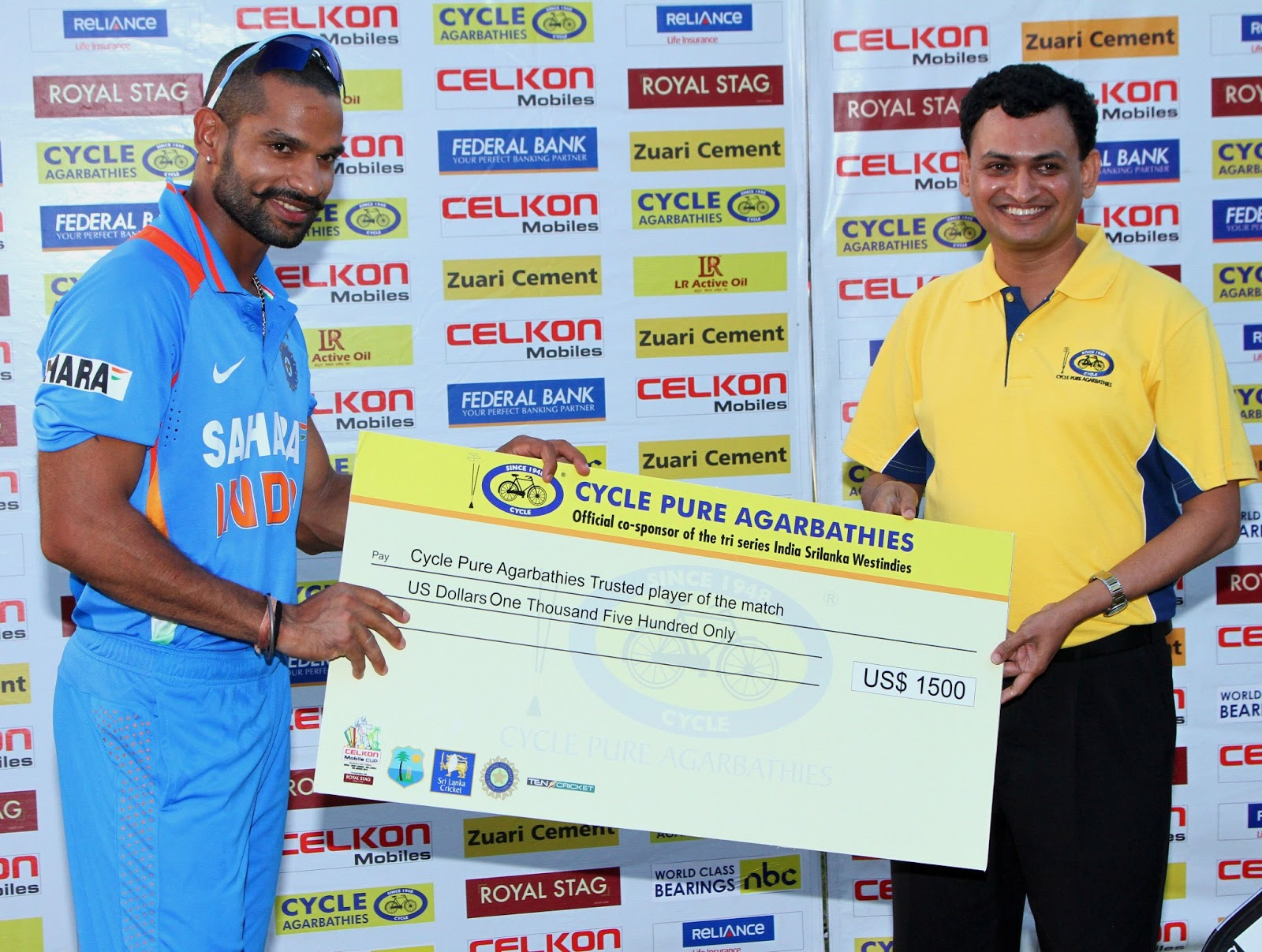 Shikhar-Dhawan-Trusted-Player-of-the-Match-West-Indies-vs-India-Tri-Series-2013