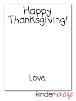 FREE tempalte to create a cute handprint turkey card