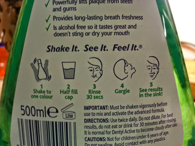 Dentyl Active 2 phase mouthwash review instructions for use
