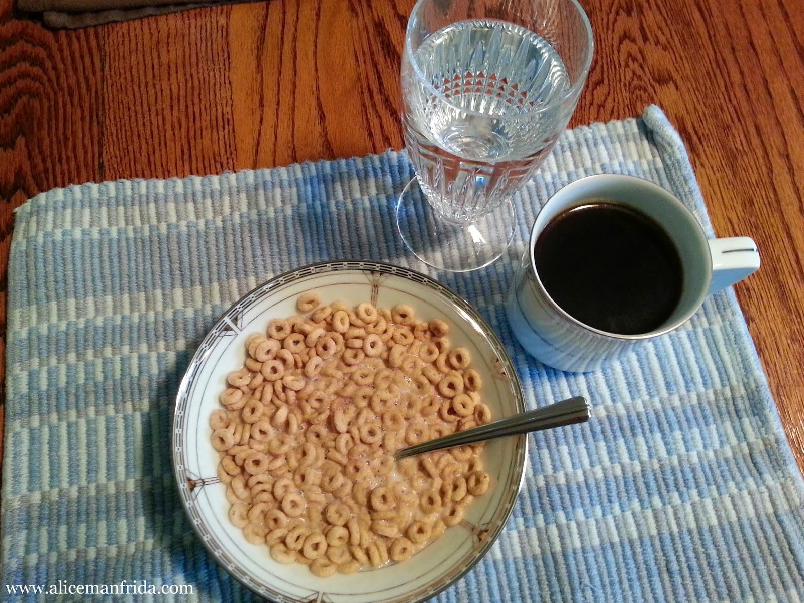 almond milk, coffee, breakfast