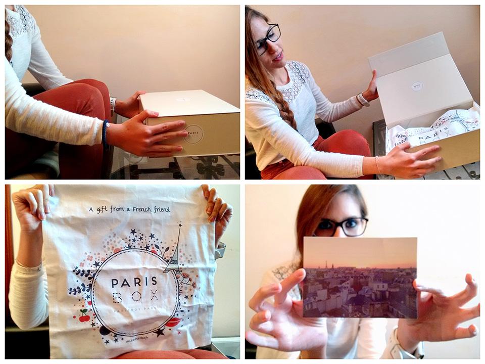 Caja de Paris Box con bolsita y foto de París