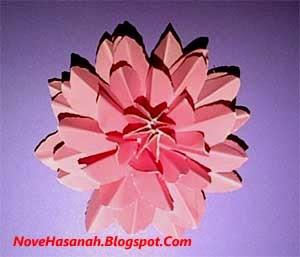 cara atau langkah disertai gambar cara membuat bunga teratai kertas