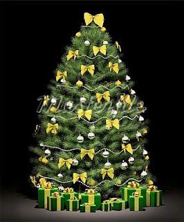 Arboles de navidad dorados - Imagenes de arboles navidad decorados ...