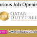 Various Job Opening at Qatar Duty Free
