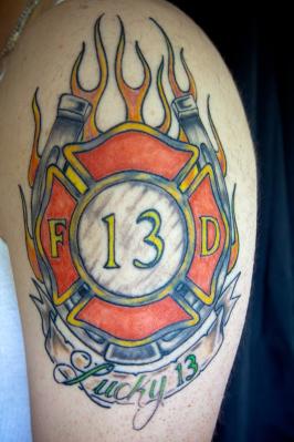 firefighter tattoos design art. Black Bedroom Furniture Sets. Home Design Ideas