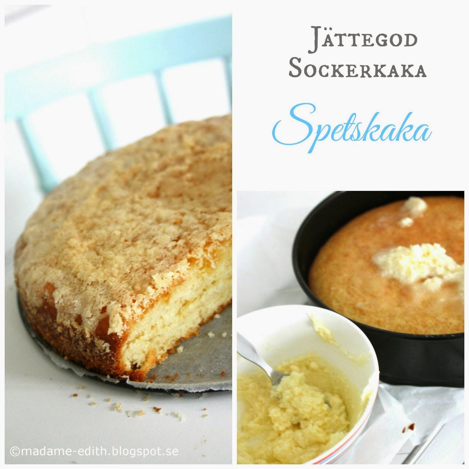 Sockerkaka - Spetskaka - En favoritkaka