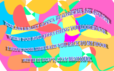 Stay Beautiful - Taylor Swift Song Lyric Quote in Text Image
