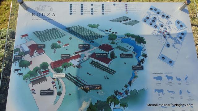 Mapa da Bodega Bouza - Montevidéu, Uruguai
