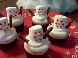 Cup cake, Hombre  de Nieve