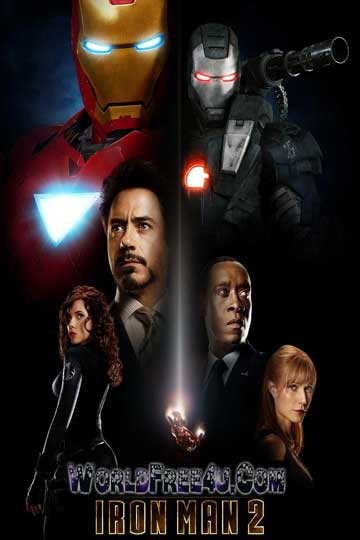 Poster Of Iron Man 2 (2010) Full Movie Hindi Dubbed Free Download Watch Online At worldfree4u.com