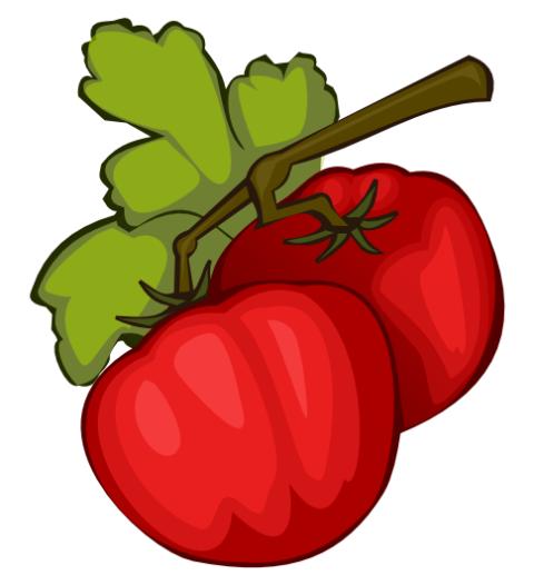 Ilustrasi tomat dengan Inkscape