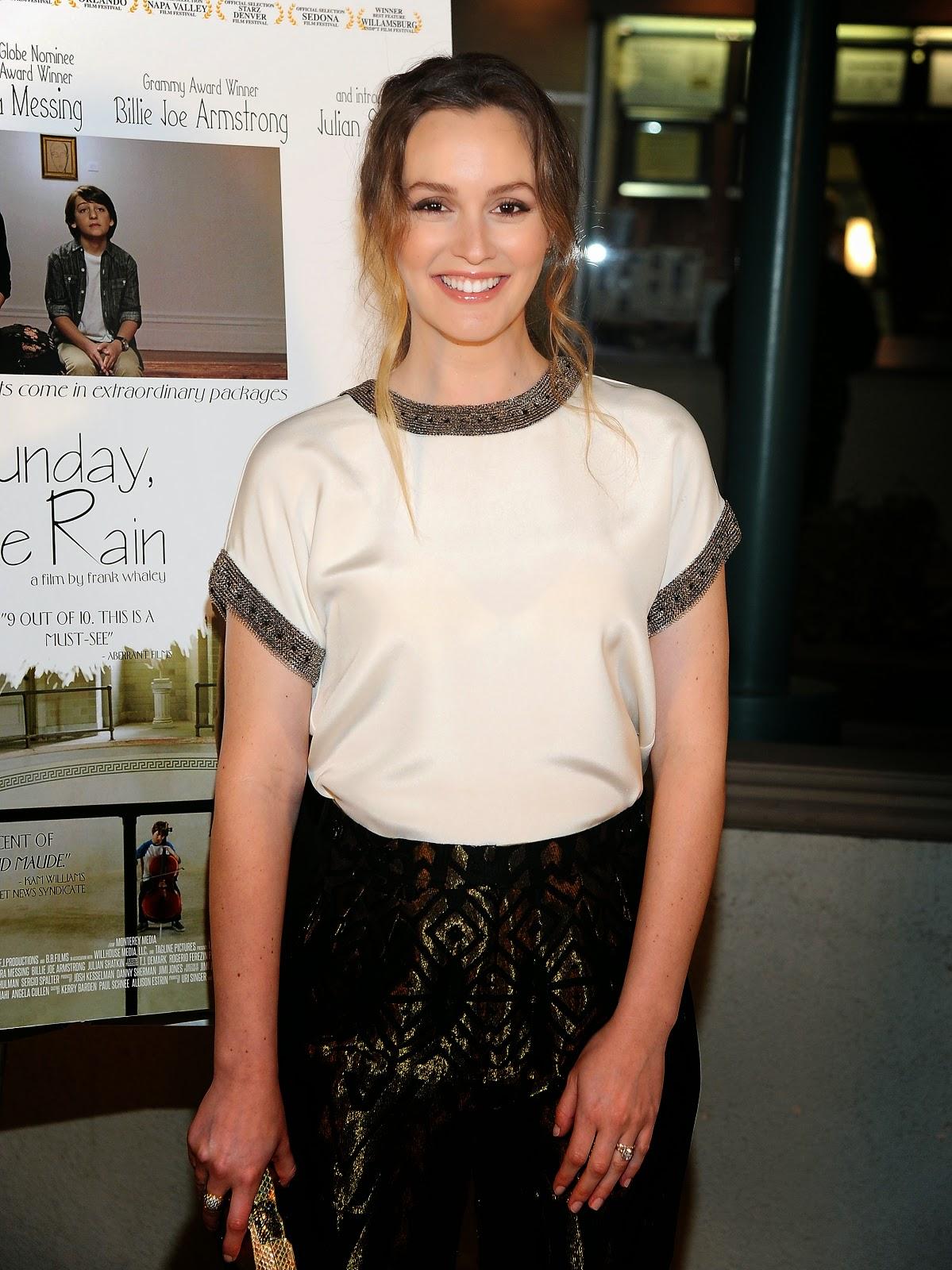 Leighton Meester at the Premiere of 'Like Sunday, Like Rain'
