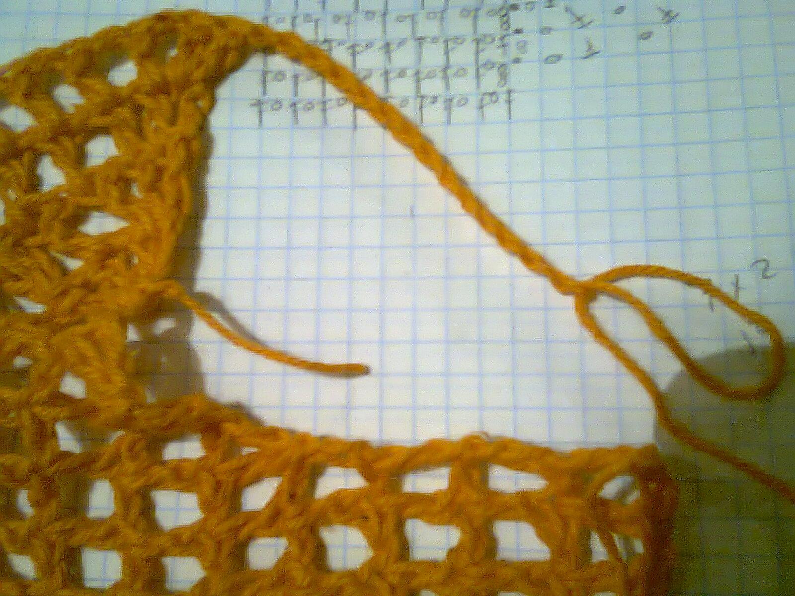 Kangél tejiendo con armonía : bolero con punto red y orilla a piñas