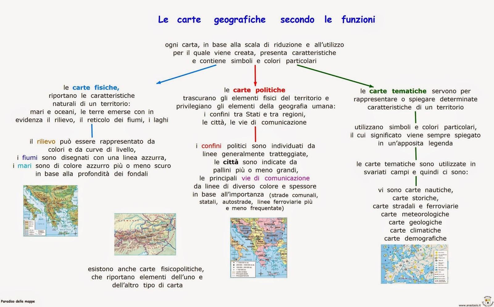 Paradiso Delle Mappe Le Carte Geografiche Secondo Le Funzioni