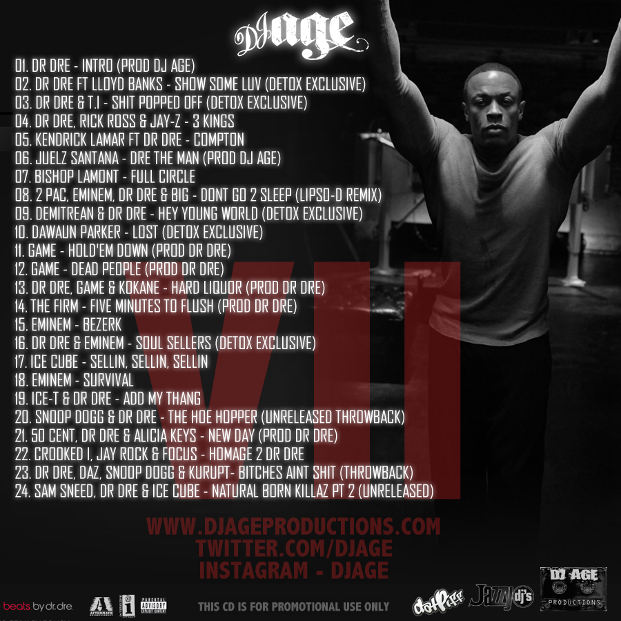Dr dre the detox chroniclez vol 2 tracklist