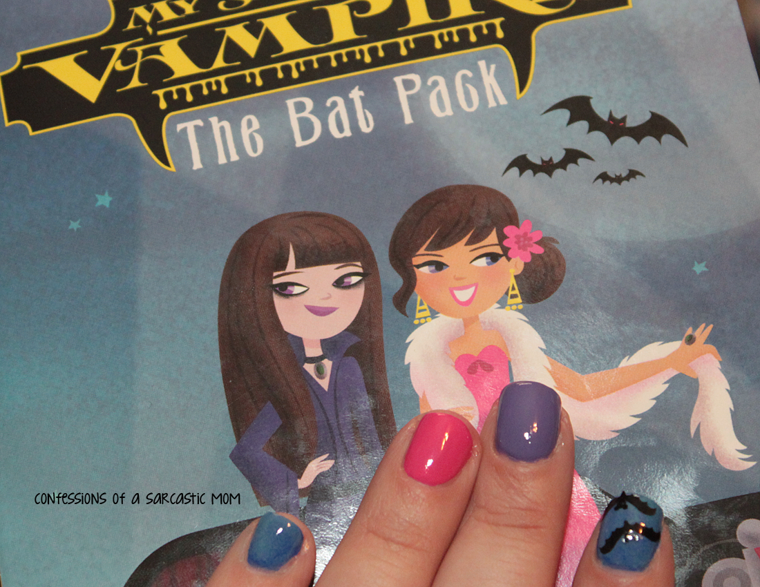 inspired by a book nail art, the bat pack, nail art
