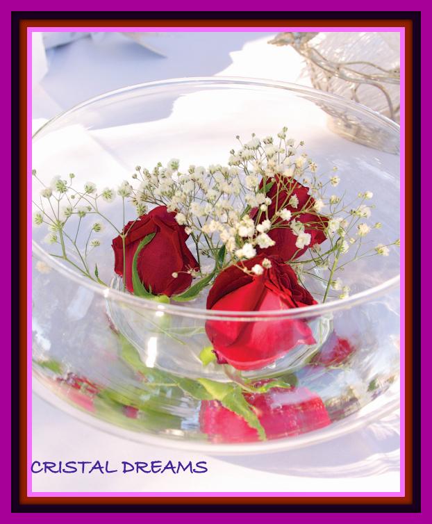 Cristal dreams para bodas for Base de cristal para mesa