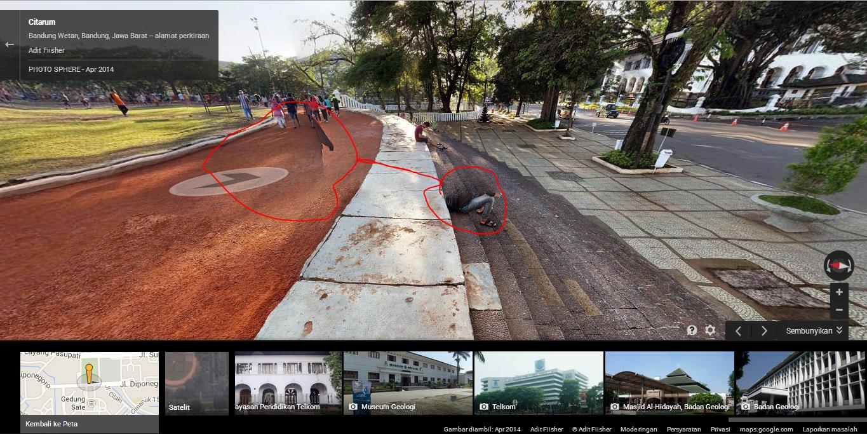 Penampakan di Google Street View Gasibu Bandung