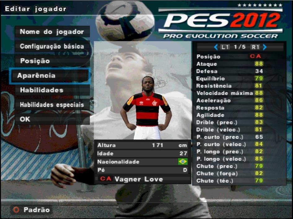 Patch pes 2012 times brasileiros pci