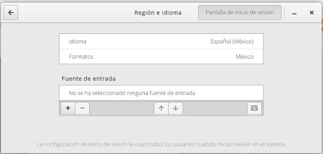 Configurar teclado en Fedora