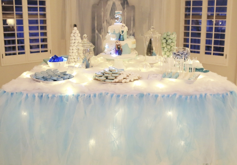 A magical frozen inspired birthday party party ideas for Summer white party ideas