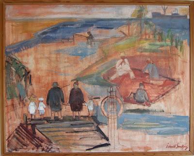 Min barndoms sommar. Oljemålning från 1957