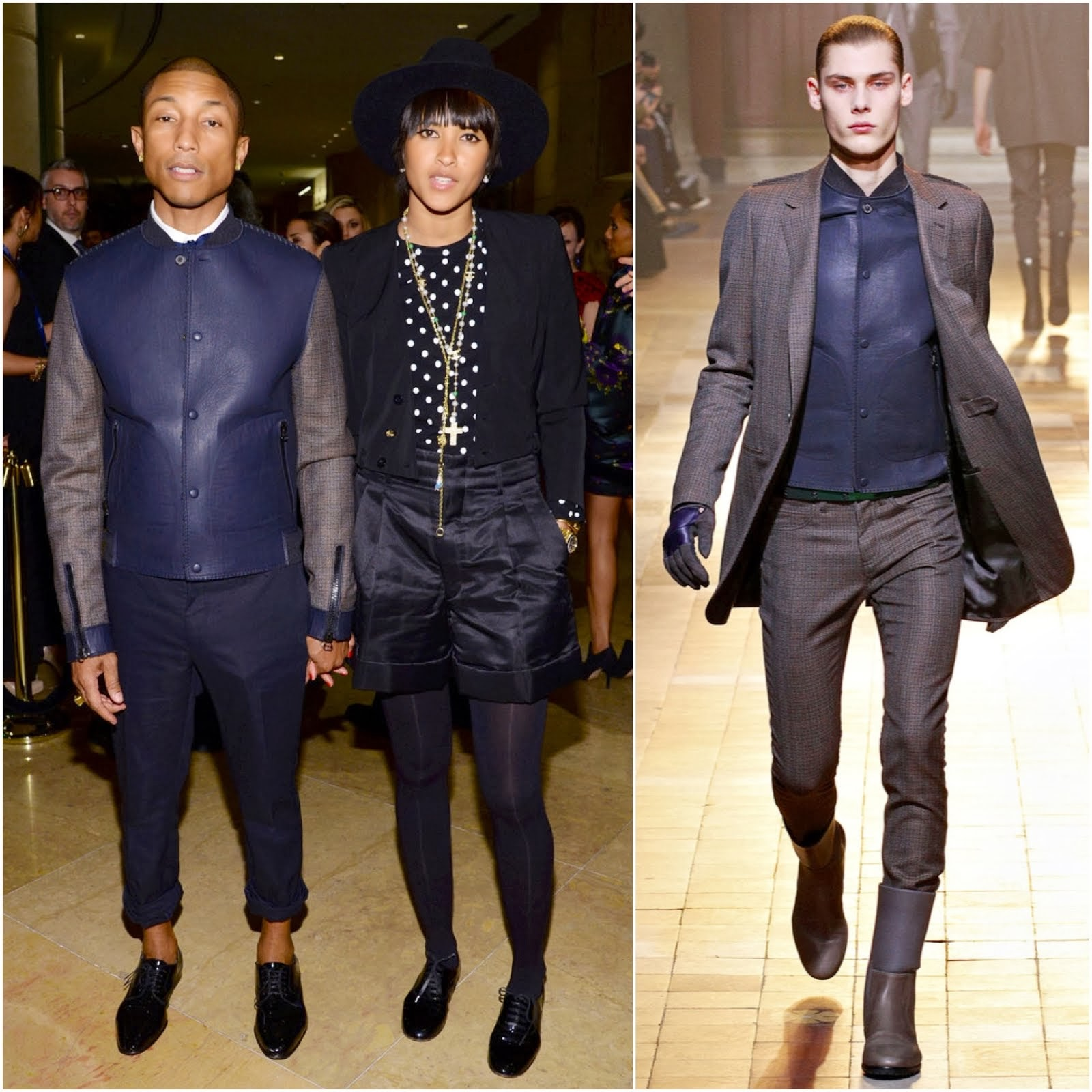 Pharrell Williams in Lanvin - Pre-GRAMMY Gala And Salute To Industry Icons Honoring Lucian Grainge
