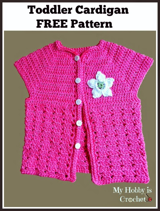 short sleeved toddler cardigan free crochet pattern