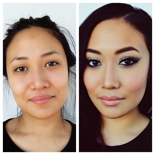 setting powder before and after. applied with beauty blender sponge/stila eyeshadow palette/too faced chocolate soleil bronzer for contour/nars deep throat blush + loose setting powder. powder before and after u