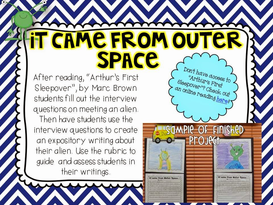Space writing activity