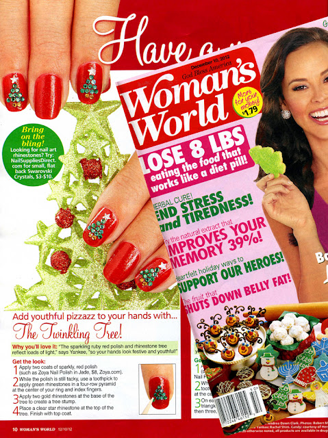 Zoya Nail Polish in Jade Featured in Woman's World Magazine!