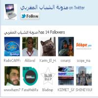 إضافة صندوق متابعي المدونة على تويتر