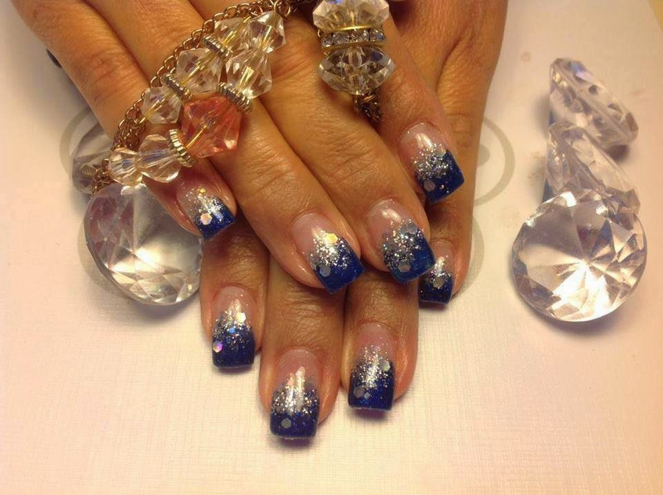 Set of gels custom mix and glitz ombre haze