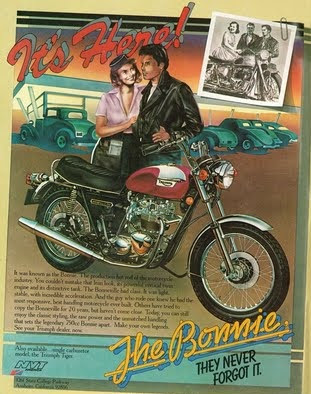 """Triumph Bonneville """" Bonnie """""""