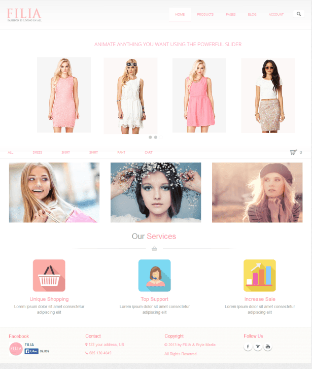 FILIA - Ultimate Responsive eCommerce Drupal Theme