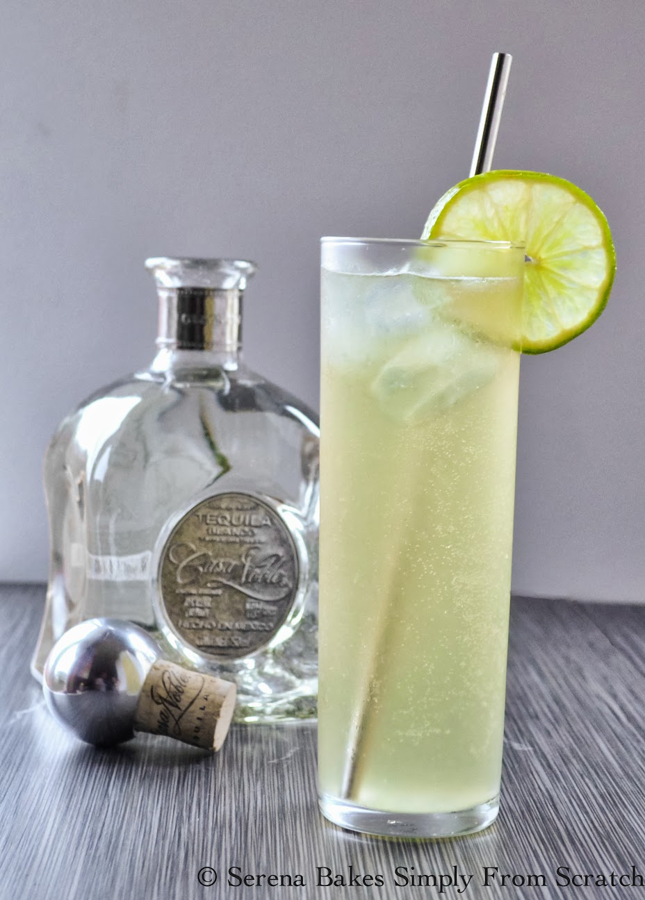Casa Noble Honey Ginger Lime Sonata the perfect summer cocktail. | Serena Bakes Simply From Scratch