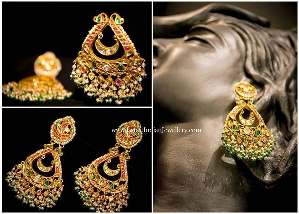Dazzling Rajasthani Gold Earrings