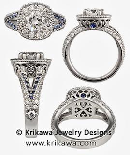 Vintage Split Twist Engagement Ring