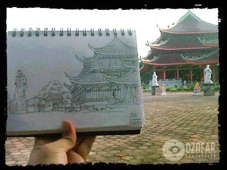 Sketsa Sam Poo Kong