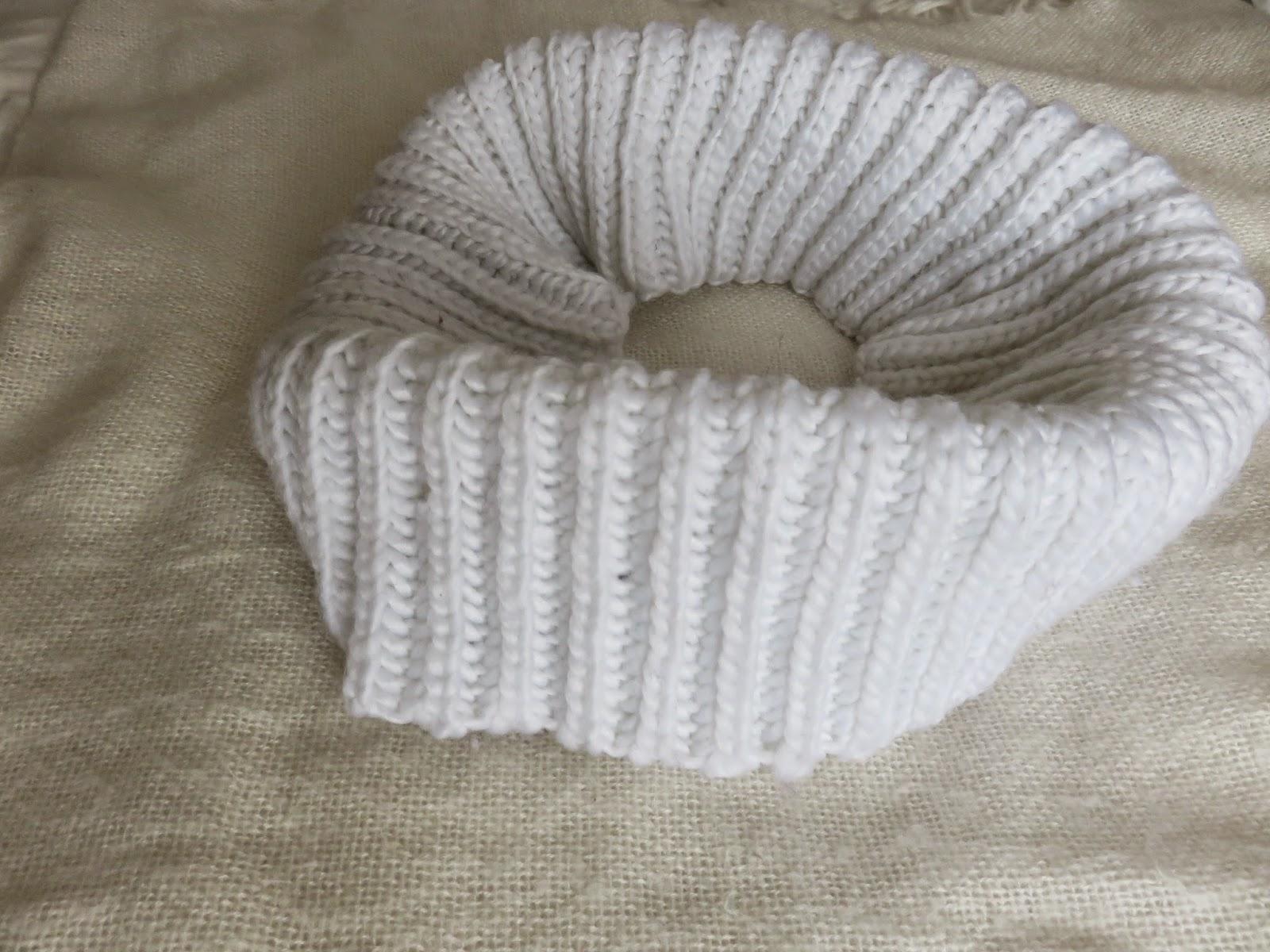 white loop scarf infinity scarf witte infinity sjaal